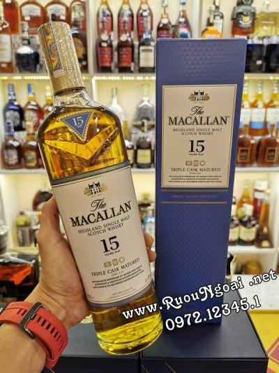 Rượu Macallan 15YO Triple Cask
