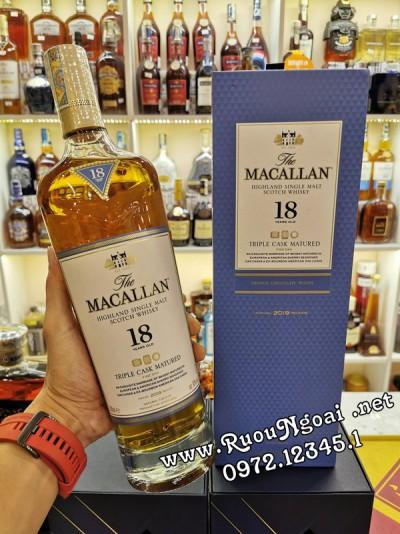 Rượu Macallan 18YO Triple Cask